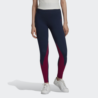 Women's Originals Blue Large Logo Tights