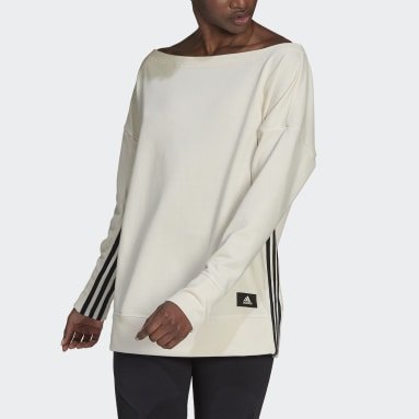 Dames Sportswear Wit adidas Sportswear Recycled Cotton Cover-Up
