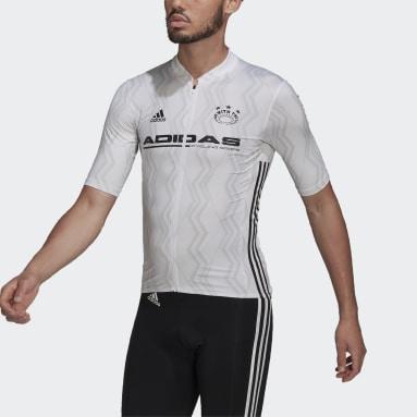 Männer Radfahren The Short Sleeve Cycling Graphic Trikot Weiß