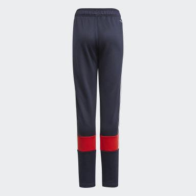 Boys Fitness Og Træning Blå 3-Stripes AEROREADY Primeblue bukser