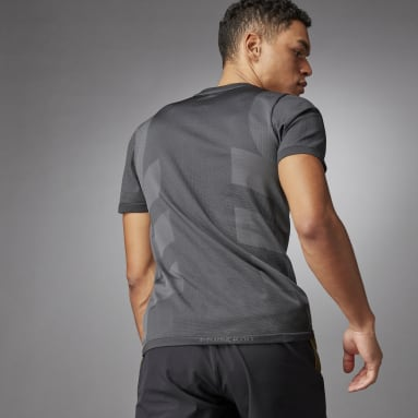 Mænd Studio Sort Studio Techfit Seamless Short Sleeve T-shirt​​