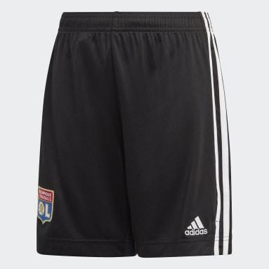 Kids Football Black Olympique Lyonnais Away Shorts