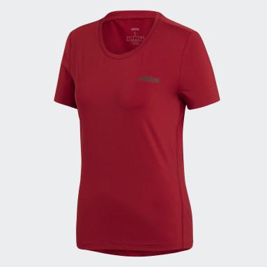 Camiseta Designed 2 Move Solid Burgundy Mujer Gimnasio Y Entrenamiento