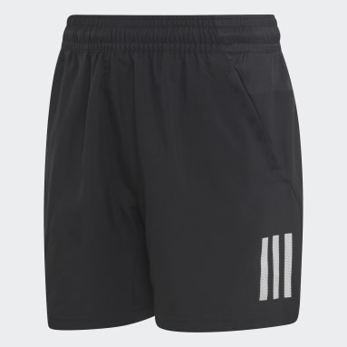 Boys Tennis Black 3-Stripes Club Shorts