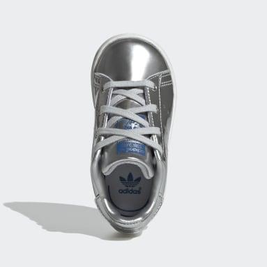 Kids Originals Silver Stan Smith Shoes