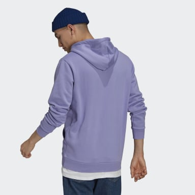Men's Originals Purple Trefoil Ombré Hoodie