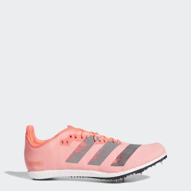 розовый Шиповки для легкой атлетики adizero Avanti