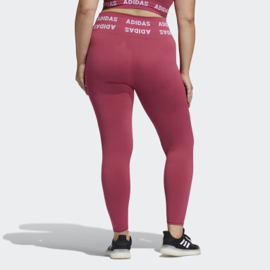 Women Gym & Training Pink Training Aeroknit 7/8 High-Rise Tights (Plus Size)