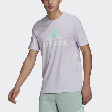 T-shirt Essentials Tie-Dyed Inspirational Pourpre Hommes Essentials