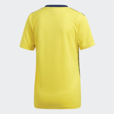 Maillot Suède Domicile jaune Femmes Soccer