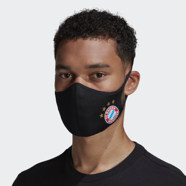 Sportswear Black FC Bayern Face Covers 3-Pack M/L - Not For Medical Use