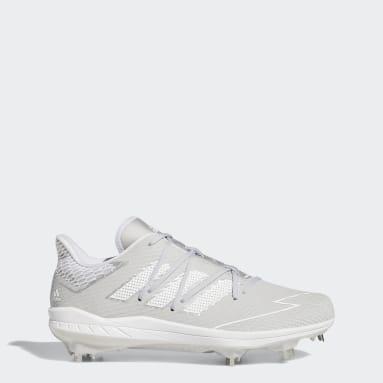 Men's Baseball Grey Adizero Afterburner 7 Cleats