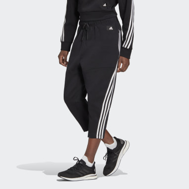 Women's Sportswear Black adidas Sportswear Z.N.E. Wrapped 3-Stripes 7/8 Pants