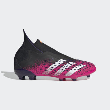 Botas de Futebol Predator Freak+ – Piso firme Preto Criança Futebol