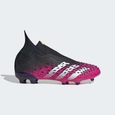 Børn Fodbold Sort Predator Freak+ Firm Ground støvler