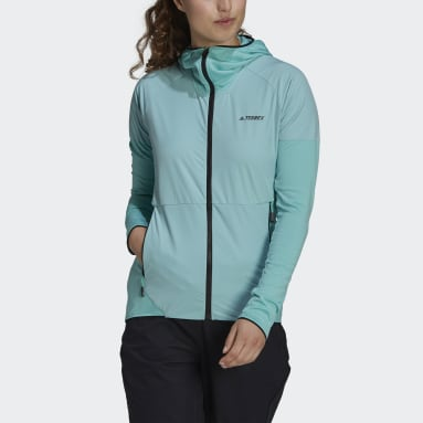 Dames TERREX Groen Terrex Skyclimb Fleece Windjack