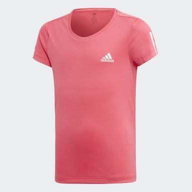 Mädchen Yoga Equipment T-Shirt Rosa
