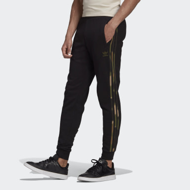 Mænd Originals Sort Camo Stripes joggingbukser