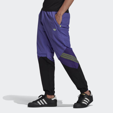 Men Originals Purple SPRT Archive Woven Tracksuit Bottoms