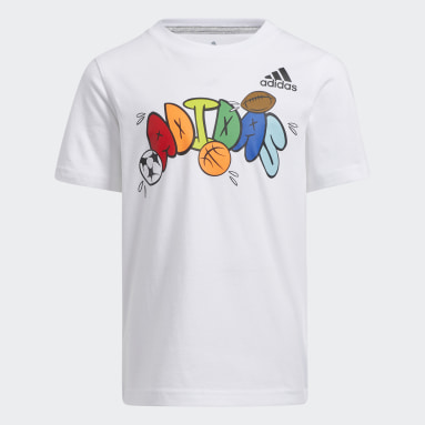 Children Football White Graphic Tee