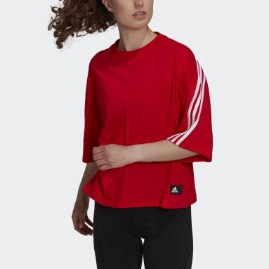 Camiseta adidas Sportswear Future Icons 3 bandas Rojo Mujer Sportswear