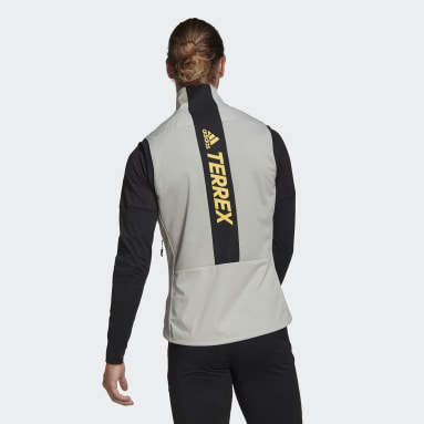 Men TERREX Grey Terrex Agravic XC Soft Shell Vest