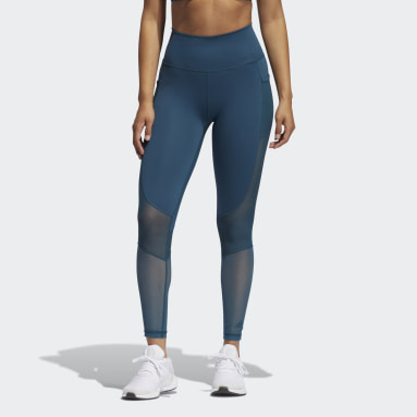Dames Fitness En Training Turquoise Believe This Summer Seven-Eighth Legging