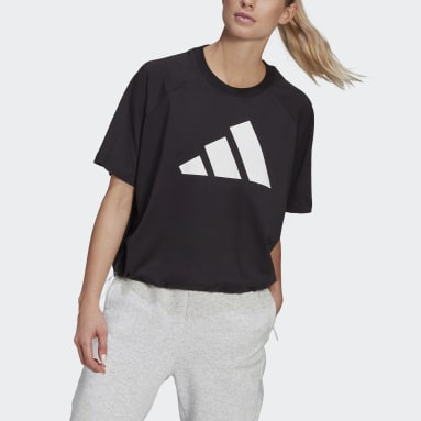 Camiseta adidas Sportswear Adjustable Badge of Sport Negro Mujer Sportswear