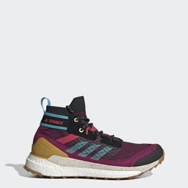 Zapatillas de Senderismo Terrex Free Hiker Granate Mujer TERREX