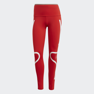 Tight adidas by Stella McCartney TRUEPACE Long Rouge Femmes adidas by Stella McCartney