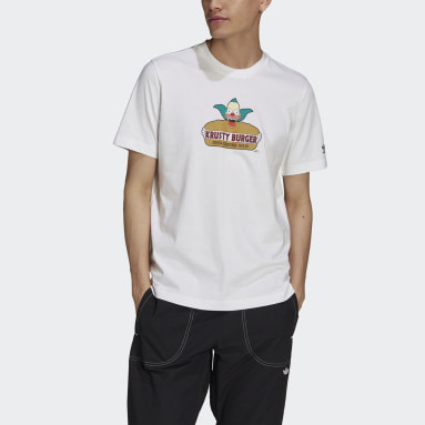 Herr Originals Vit The Simpsons Krusty Burger Tee