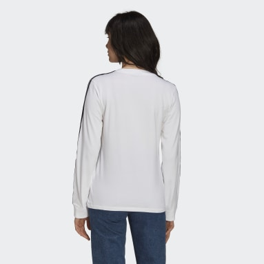 T-shirt Adicolor Classics Long Sleeve Blanc Femmes Originals
