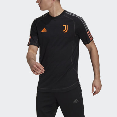 Men Football Black Juventus Travel Jersey