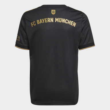 Kinder Fußball FC Bayern München 21/22 Auswärtstrikot Schwarz