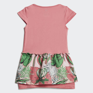Dívky Cvičení A Trénink růžová Souprava Flower Print Summer