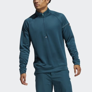 Men Golf Turquoise Equipment Quarter-Zip Sweatshirt