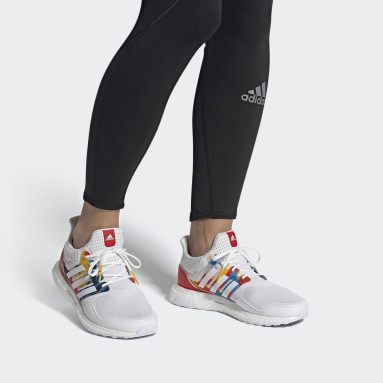 Sapatos Ultraboost S&L DNA Branco Mulher Running