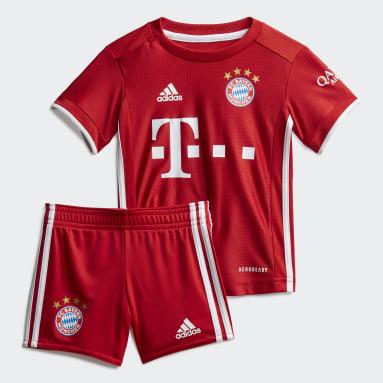 Deti Futbal červená Súprava FC Bayern Home Baby