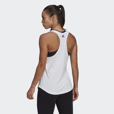Women Sportswear White LOUNGEWEAR Essentials Loose Logo Tank Top