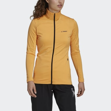 Women TERREX Orange Terrex Multi Primegreen Full-Zip Jacket