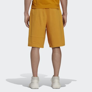 Men Y-3 Yellow Y-3 Classic Heavy Piqué Shorts