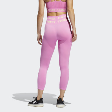 Women Gym & Training Pink Training Aeroknit 7/8 High-Rise Tights
