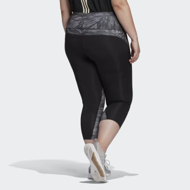 Women's Essentials Black adidas x Zoe Saldana AEROREADY 7/8 Tights (Plus Size)