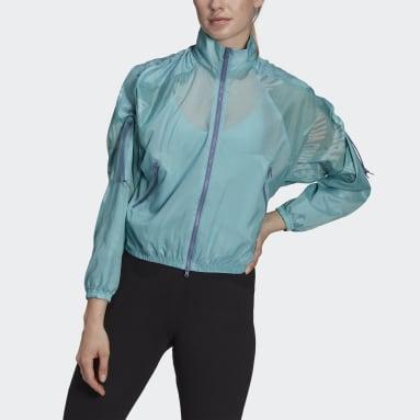 Frauen Sportswear adidas Sportswear Woven Lightweight Jacke Grün