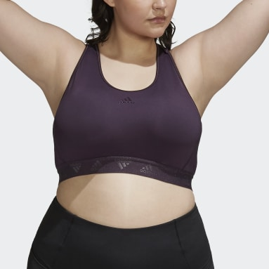 Women Yoga Purple Don't Rest Badge of Sport Glam On Bra (Plus Size)
