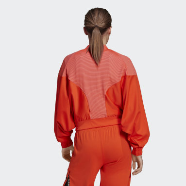 Veste Karlie Kloss Cover-Up Orange Femmes Fitness Et Training