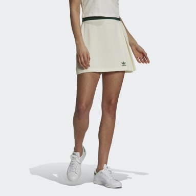 Women's Originals White Tennis Luxe Tennis Skirt