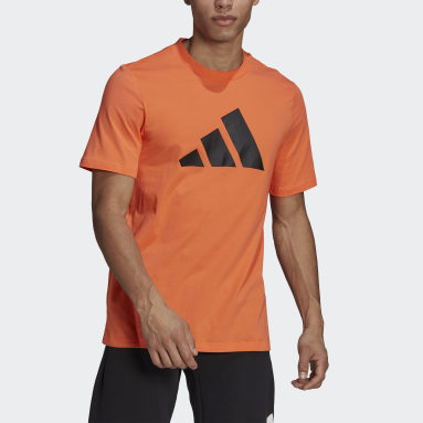Men Sportswear Orange adidas Sportswear Logo T-Shirt