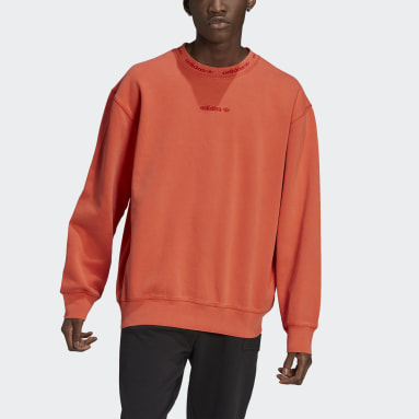 Men Originals Orange Dyed Crewneck Sweatshirt