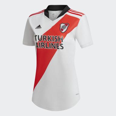 Camiseta Titular River Plate 120 años Blanco Mujer Fútbol